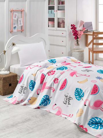 Colourful Cotton Narzuta w kolorze różowo-białym