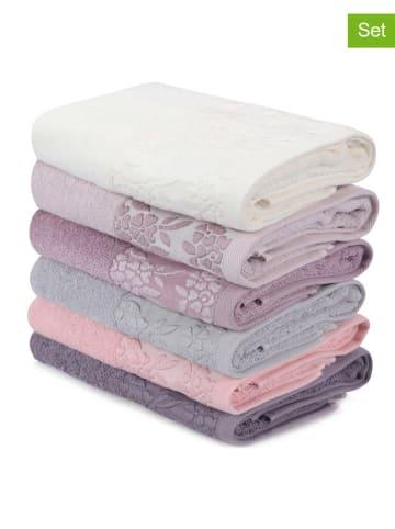 "Colourful Cotton Kolorowe ręczniki (6 szt.) ""Pamela"" do rąk"