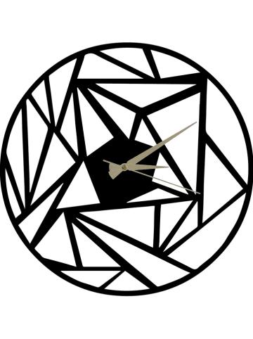 ABERTO DESIGN Zegar w kolorze czarnym - Ø 50 cm