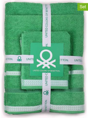 Benetton 3-częściowy zestaw ręczników w kolorze zielonym