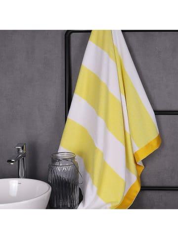 United Colors of Benetton Ręcznik plażowy w kolorze żółto-białym - 160 x 90 cm