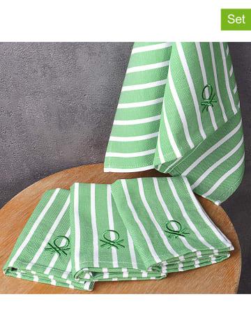 United Colors of Benetton Serwetki (4 szt.) w kolorze zielonym - 45 x 33 cm