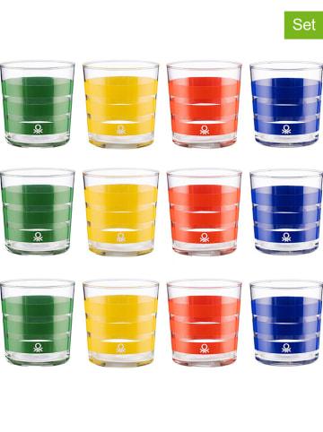 Benetton 12-delige set: glazen meerkleurig - 350 ml