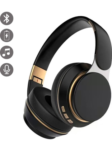Evetane Bluetooth on-ear hoofdtelefoon zwart