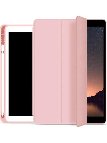 Evetane Flipcase voor iPads tot 11 inch lichtroze