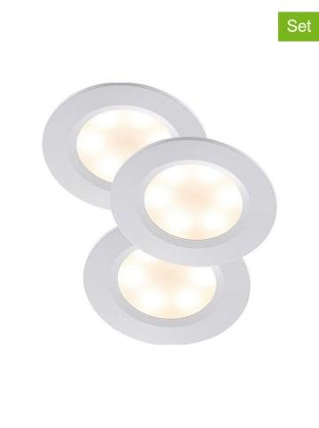 Nordlux 3-delige set: led-plafonnières wit - Ø 7 cm