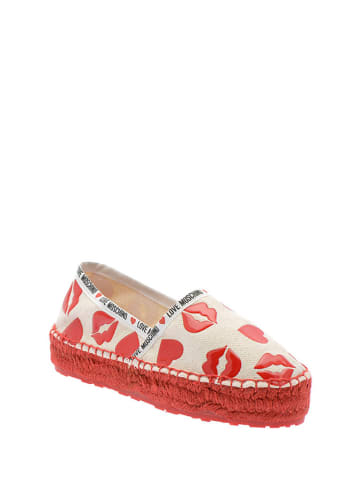 Love Moschino Espadrilles wit/rood