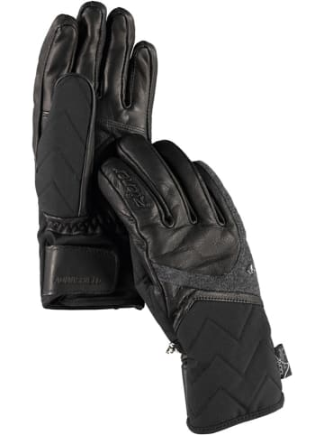 """Ziener Handschoenen """"Kristall"""" zwart/grijs"""