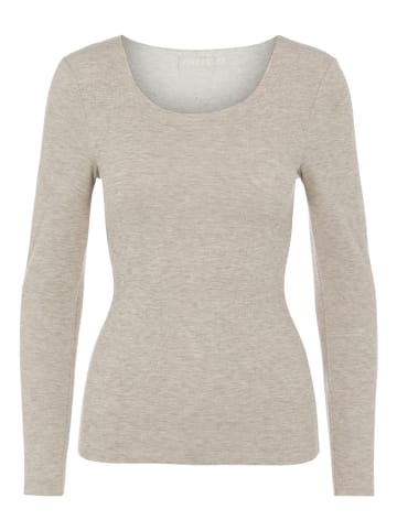 """Pieces Longsleeve """"Pcvera"""" in Taupe"""