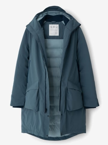 SHU Płaszcz zimowy w kolorze morskim