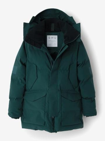 SHU Płaszcz zimowy w kolorze zielonym