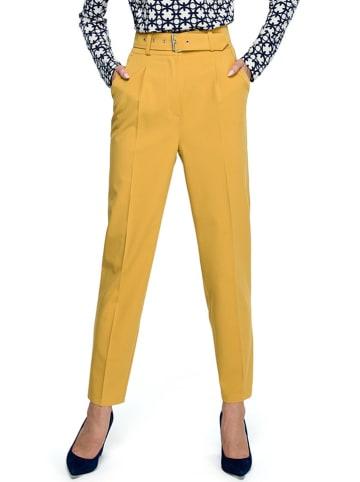 Stylove Spodnie w kolorze żółtym