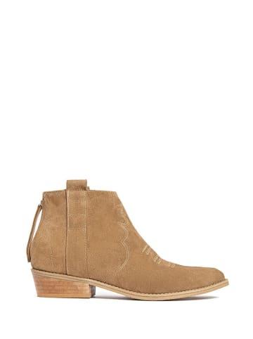 L37 Leren boots beige