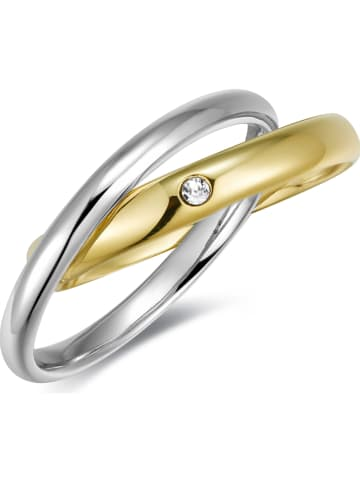 METROPOLITAN Vergold. Ring mit Swarovski Kristall