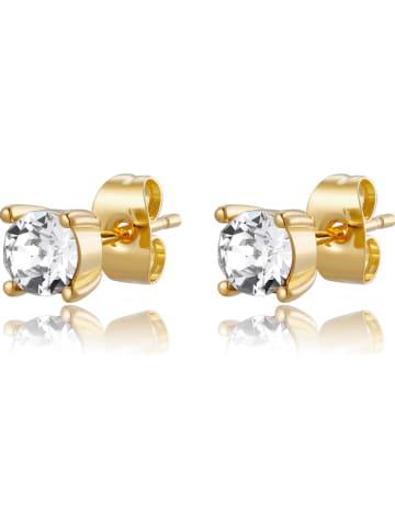 Park Avenue Vergulde oorstekers met Swarovski-kristallen