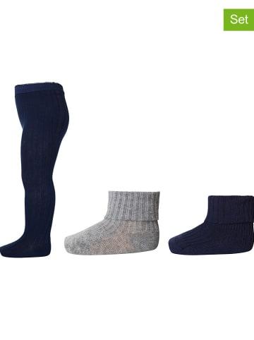Mp Denmark 3-delige set: maillot & sokken donkerblauw/grijs