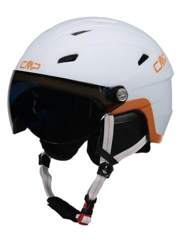 """CMP Dziecięcy kask narciarski """"WJ-2"""" w kolorze białym ze wzorem"""