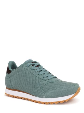 "WODEN Leren sneakers ""Ydun Croco II"" turquoise"