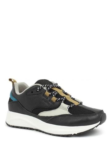 "WODEN Sneakers ""Malou Leather Fifty"" zwart/crème"