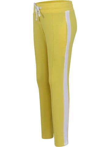 Little Miss Juliette Spodnie dresowe w kolorze żółtym