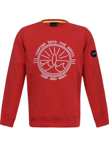JUMPING THE COUCH Sweatshirt in Rot