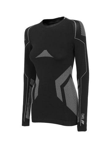 4F Koszulka funkcyjna w kolorze czarno-szarym