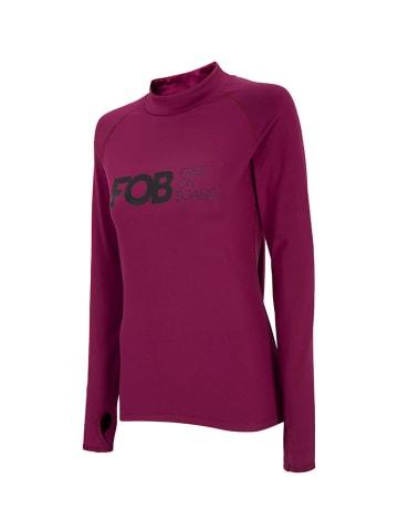 4F Koszulka funkcyjna w kolorze wiśniowym