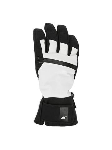 4F Rękawice narciarskie w kolorze biało-czarnym