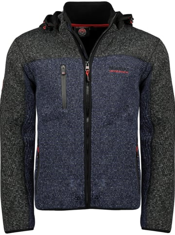 "Geographical Norway Fleece vest ""Ubu"" zwart/donkerblauw"