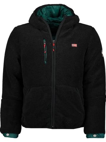 """Geographical Norway Omkeerbaar fleece vest """"Tonclear"""" zwart/groen"""