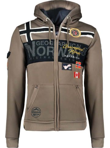 "Geographical Norway Sweatvest ""Garadock"" taupe"
