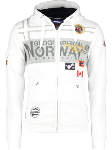 "Geographical Norway Sweatvest ""Garadock"" wit"