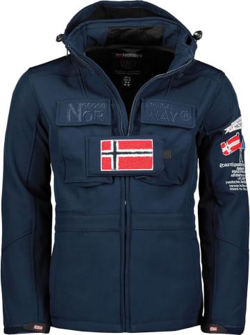 "Geographical Norway Softshelljas ""Target"" donkerblauw"