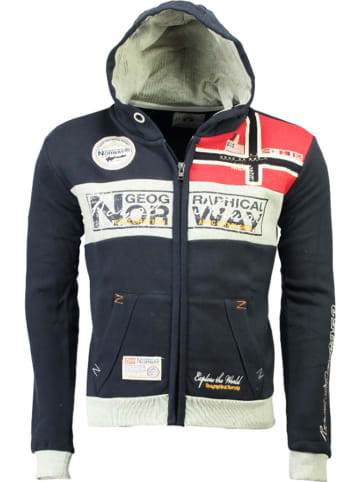 """Geographical Norway Sweatvest """"Flyer"""" donkerblauw"""