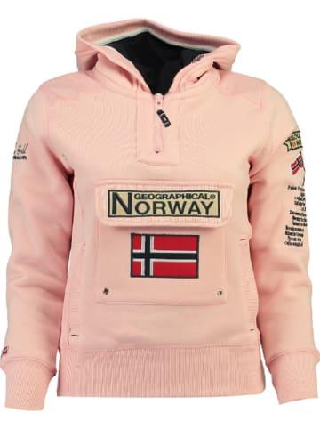 "Geographical Norway Sweatshirt ""Gymclass"" lichtroze"