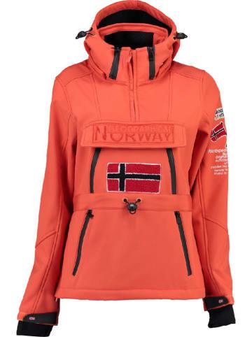 """Geographical Norway Softshelljas """"Topale"""" koraalrood"""