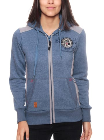 """Geographical Norway Sweatvest """"Girly"""" blauw"""