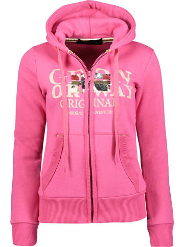 "Geographical Norway Sweatvest ""Gassy"" roze"