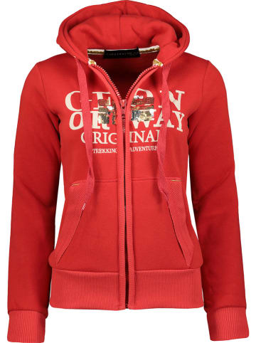 """Geographical Norway Sweatvest """"Gassy"""" rood"""