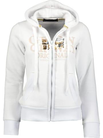 """Geographical Norway Bluza """"Gassy"""" w kolorze białym"""