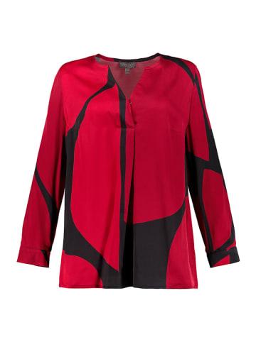 Ulla Popken Blouse rood/zwart