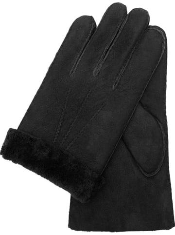 Gretchen Leder-Handschuhe in Schwarz