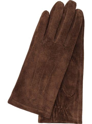 Gretchen Leder-Handschuhe in Dunkelbraun