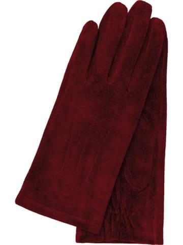 Gretchen Skórzane rękawiczki w kolorze bordowym