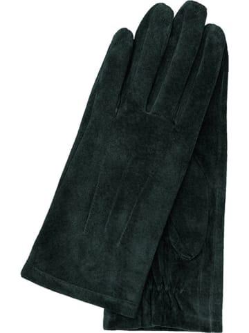 Gretchen Leder-Handschuhe in Dunkelgrün