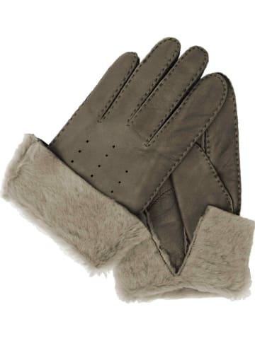 Gretchen Skórzane rękawiczki w kolorze szarym