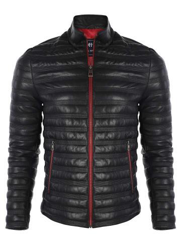 Felix Hardy Skórzana kurtka w kolorze czarnym