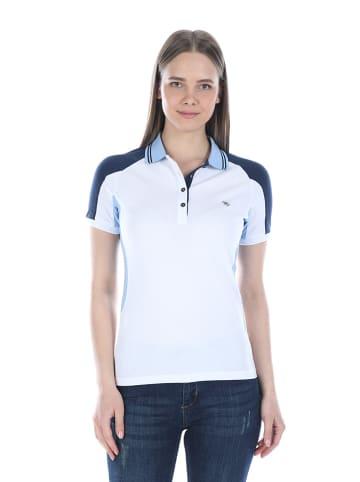 Felix Hardy Koszulka polo w kolorze biało-niebieskim