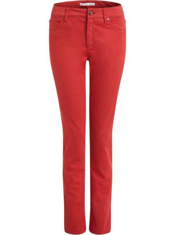 Oui Dżinsy - Slim fit - w kolorze czerwonym