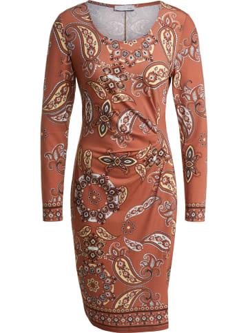 Oui Sukienka w kolorze jasnobrązowym